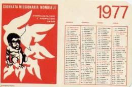 Calendarietto - 1977 Giornata Missionaria Mondiale - Calendari