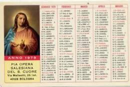 Calendarietto - 1979 Pia Opera Salesiana Del S.cuore - Bologna - Calendari