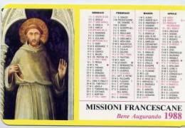 Calendarietto - 1988 Missione Francescana - Calendari