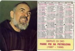 Calendarietto - 1988 Padre Pio - Calendari