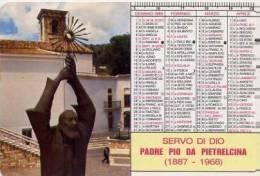 Calendarietto - 1989 Padre Pio - Calendari