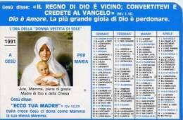 Calendarietto - 1991 L´ora Della Donna Vestita Di Sole - Calendari