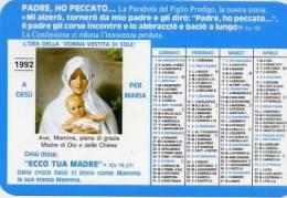 Calendarietto - 1992 L´ora Della Donna Vestita Di Sole - Calendari