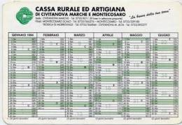 Calendarietto - 1994 Cassa Rurale Ed Artigianato Di Civitanova Marche E Montecosaro - Calendari