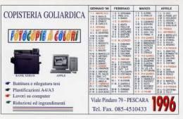 Calendarietto - 1996 Copisteria Goliardica - Pescara - Calendari