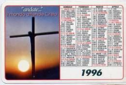 Calendarietto - 1996 Il Mondo Attende Cristo - Formato Piccolo : 1991-00