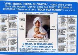 Calendarietto - 1996 L´ora Della Donna Vestita Di Sole - Calendriers