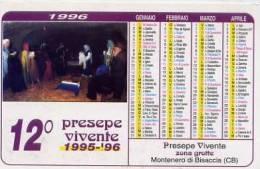 Calendarietto - 1996 Presepe Vivente - Montenero Di Bisaccia - Calendari