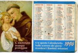 Calendarietto - 1996 S.antonio - Formato Piccolo : 1991-00