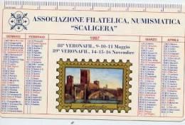 Calendarietto - 1997 Associazione Filatelica Numismatica Scaligera - Calendari