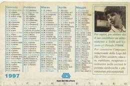 Calendarietto - 1997 Lega Del Filo D´oro - Osimo - Formato Piccolo : 1991-00
