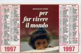 Calendarietto - 1997 Per Far Vivere Il Mondo - Calendari
