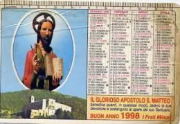 Calendarietto - 1998 Il Glorioso Apostolo S. Matteo - Calendari