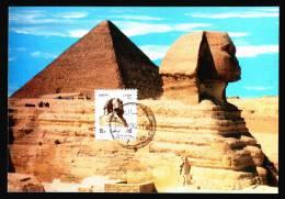 EGYPT / MAXICARD / MAXIMUM / GIZA ; THE GREAT SPHINX & KEOPS PYRAMID / EGYPTOLOGY - Egypt