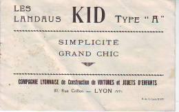 Catalogue Les Landaus Kid Type A Compagnie Lyonnaise De Construction De Voitures Et Jouets D'enfants Lyon Rhône - 1950 - ...