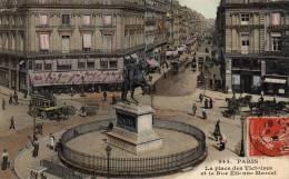 PARIS La Place Des Victoires Et La Rue Etienne Marcel Carte écrite En 1908 - Distretto: 01
