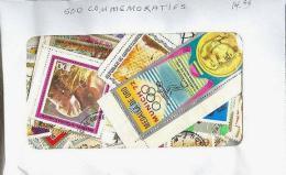 500 TIMBRES COMMEMORATIFS MONDE ENTIER - Timbres