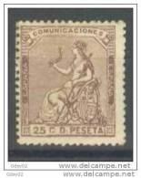 ES135-L3299TVF.España.Spain .Espagne.ALEGORIA  DE ESPAÑA DEL AÑO 1873 (Ed 135*).con Charnela.MAGNIFICO - Viñetas De Fantasía