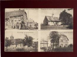 68 Souvenir D' Ueberstrass 4 Vues édit.husser Beck , Café épicerie Wadel , Chapelle  ,horlogerie Burtschy Pélerinage Du - France