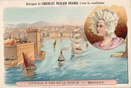 Chromo Chocolat Poulain Orange Littoral & Iles De France Marseille - Poulain