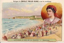 Chromo Chocolat Poulain Orange Littoral & Iles De France Biarritz - Poulain