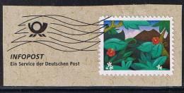 Infopost, Ein Service Der Deutschen Post Mir Selbstklebender Marke - [7] République Fédérale