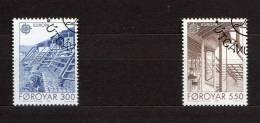 "FEROE 1987 N° YT 143 144 OBLITERES "" EUROPA 1987 : ARCHITECTURE MODERNE "". Parfait état. - Färöer Inseln"