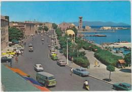 Rhodos - Mandraki Quai: FORD FK 1250, HILLMANN IMP, OPEL REKORD-A, FIAT 1300,PEUGEOT 404 Etc. -Auto/Car - Greece - Toerisme
