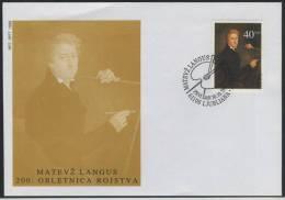 FDC Slovenia 1992 - 200th Birthday Of Matevz Langus (Michel 31) Mint FDC 13/92 - Slovenia