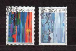 """FEROE 1987 N° YT 154 155 OBLITERES """" OEUVRES DE ZAKARIAS HEINESEN """". Parfait état. - Färöer Inseln"""