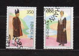 "FEROE 1989 N° YT 178 179 OBLITERES "" COSTUMES TRADITIONNELS "". Parfait état. - Färöer Inseln"