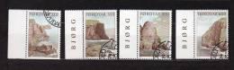 """FEROE 1989 N° YT 184 à 187 OBLITERES """" FALAISES DES COTES FEROIENNES """". Parfait état. - Färöer Inseln"""