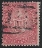 GUATEMALA 1871 - Yvert #4 - VFU - Guatemala