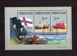 "FEROE 1990 N° YT BF 4 OBLITERE : "" 50 ANS DU DRAPEAU FEROIEN "". Parfait état. - Färöer Inseln"