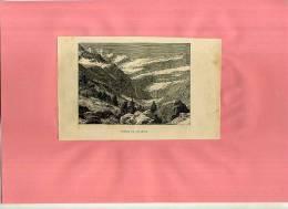 - FRANCE . CIRQUE DE GAVARNIE . GRAVURE SUR BOIS FIN DU XIXe S. - Estampes & Gravures