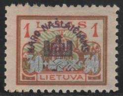 LITHUANIA 1926 - Yvert #249 - MLH * - Lituania