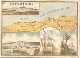 """Pub """"La GRANDE MAISON"""" - ALGERIE : Carte Géographique - C58 - Algérie"""