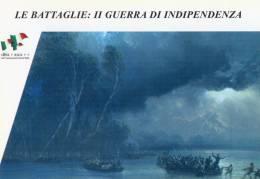 [DC1408] CARTOLINEA - LE BATTAGLIE: II GUERRA DI INDIPENDENZA -GARIBALDI PASSA IL TICINO CON I CACCIATORI DELLE ALPI (8) - Storia