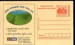 India 2007 Petroleum Conservation Research Association Save Fule Gujarati Language Meghdoot Post Card # 13371 - Oil