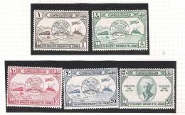 JORDAN 1949 UPU Set * First Hinge YT 218/222 SG 285/289 - Jordanie