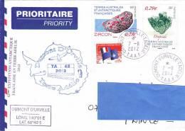 [Z2] Lettre TAAF French Antarctic Territories Mineral Diopsid Zircon - Minéraux