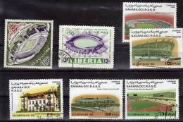 Lot  N° 73  Oblitere   Football Soccer Fussball Stade - Football