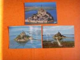 75) Mont Saint Michel:3 Cp Superbes  : En L´etat - Le Mont Saint Michel