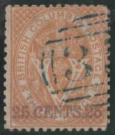 COLUMBIA BRITANICA 1868/71 - Yvert #9 - VFU - British Columbia & Vancouver Island