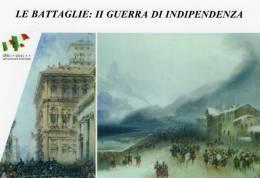 [DC1414] CARTOLINEA - LE BATTAGLIE: II GUERRA DI INDIPENDENZA - PARTENZA DA TORINO DELLA GUARNIGIONE PER IL CAMPO (14) - Storia
