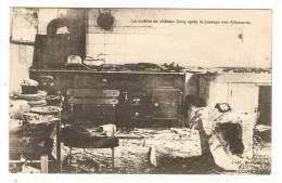 CPA : Chateau Dacy : La Cuisine Du Château Dacy Après Le Passage Des Allemands - Guerre 1914-18