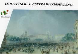 [DC1415] CARTOLINEA - LE BATTAGLIE: II GUERRA DI INDIPENDENZA - IL REGGIMENTO SAVOIA PARTE DA TORINO PER IL CAMPO (15) - Storia