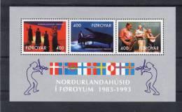 """FEROE 1993 N° YT BF 6 Neuf ** MNH : """" 10 ANS DE LA MAISON NORDIQUE DE TORSHAVN """". Parfait état. - Färöer Inseln"""