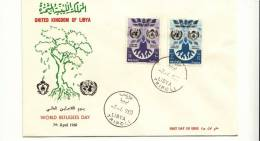 DC230-LIBYA 1960 FDC WORLD REFUGEES ADY Mills 10+45 Worls Refugees Day - Libye