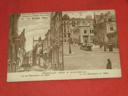 """BRUXELLES  - """" Bruxelles Jadis Et Aujourd ´ Hui """" - La Rue Ravenstein En 1930   - Publicité """" La Dernière Heure """" - Brussel (Stad)"""